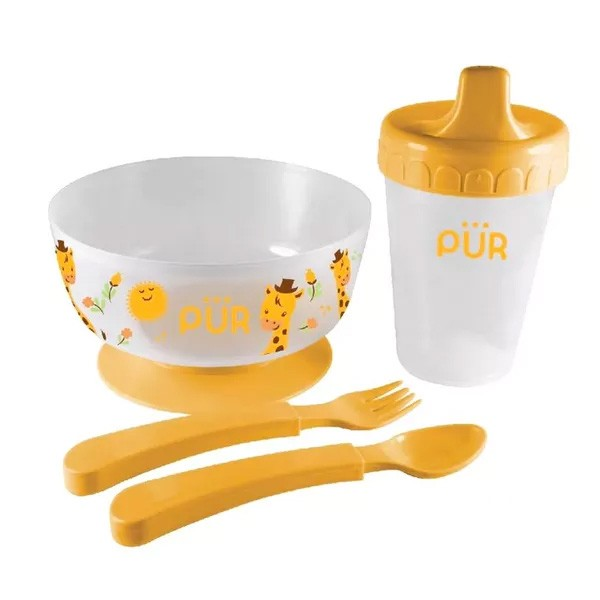 Pur Baby 4 in 1 Weaning Set (R.5910) (6+ Months) 1 Combo (1set)