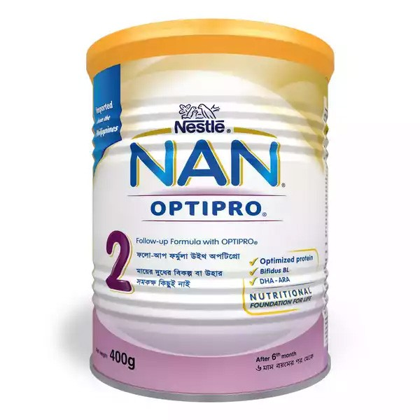 Nestlé NAN 2 Follow Up Formula With Optipro TIN (400gm)