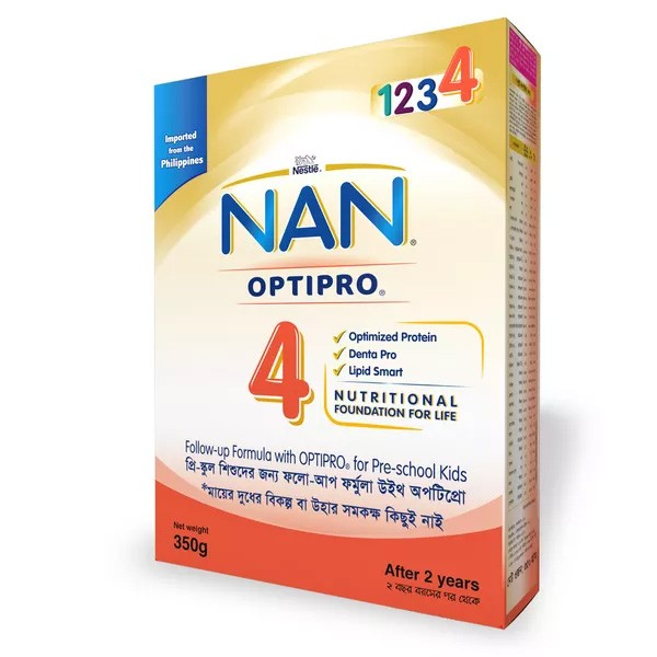 Nestlé NAN 4 OPTIPRO Follow Up Formula (2-5years) Box (350gm)