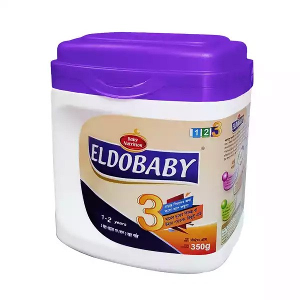 ELDOBABY 3 Follow Up Formula Jar (1 - 2 Years) (350gm)