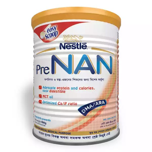 Nestlé PRE NAN Preterm & Low Birth Weight Infant TIN (400gm)