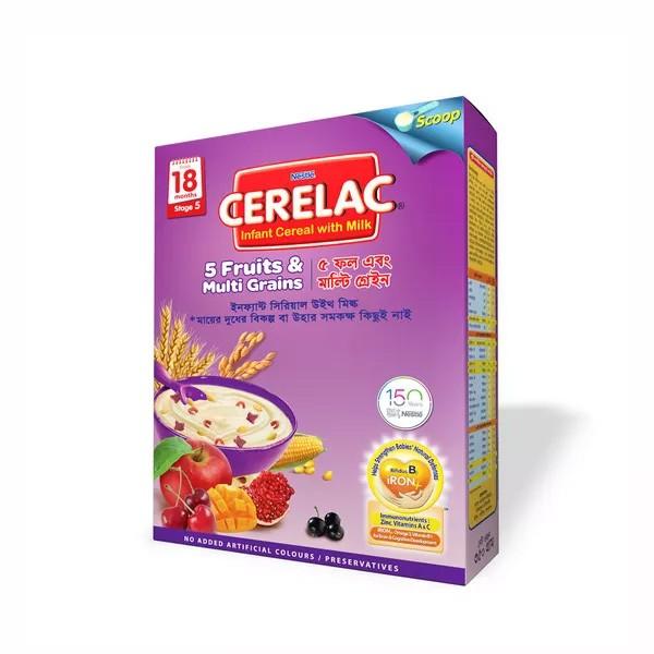 Nestlé Cerelac 5 Fruits & Multi Grains (18 months +) BIB (350gm)