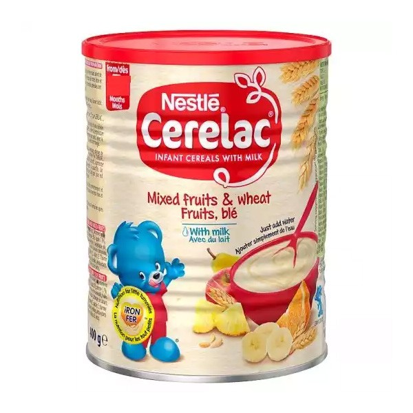 Nestlé Cerelac Mixed Fruits & Wheat With Milk (8 months +) Tin (400gm)