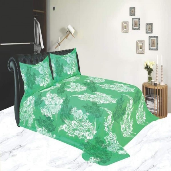 King Size Cotton Bed Sheet With Matching 2 Pillow Covers - Multicolor - Bd0025