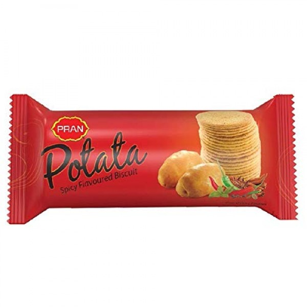 PRAN POTATA Spicy Flavoured Biscuits (100 gm)