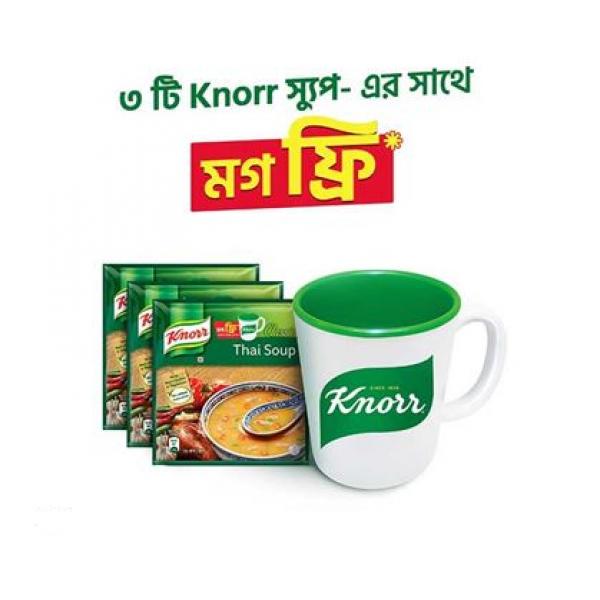 Knorr Soup Chicken Corn (24 gm)  (Buy 3 Get 1 Mug)